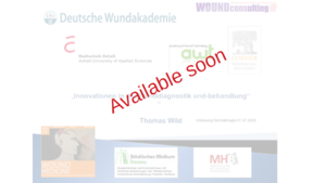 lecture: Innovation in Wounddiagnostics